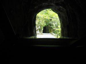 面河峡までのトンネル